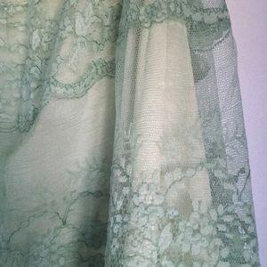 Vintage Intimates & Sleepwear - Vintage Green Lace Nightgown